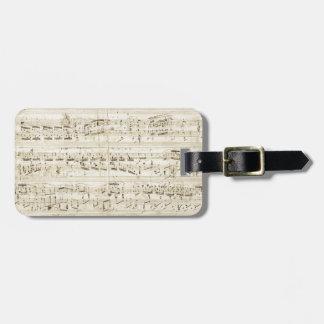 Chopin Sheet Music Bag Tag