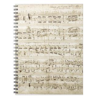Chopin Sheet Music Notebook