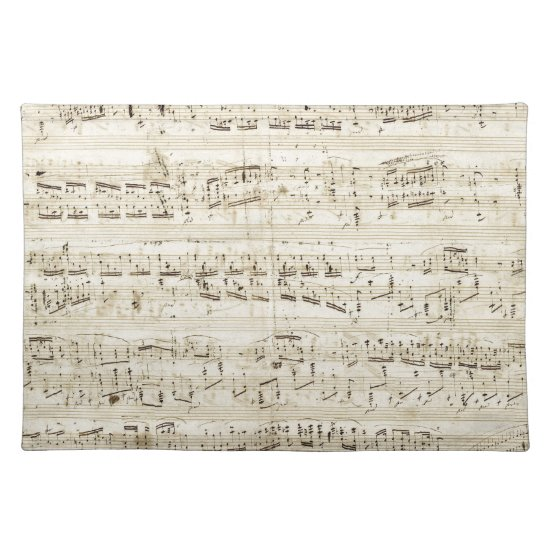 Chopin Sheet Music Placemat