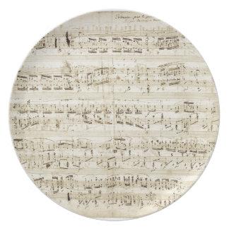Chopin Sheet Music Dinner Plate