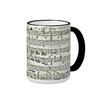 "Chopin's ""Polonaise"" Ringer Coffee Mug"