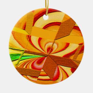 Chopped Art Ornament Round