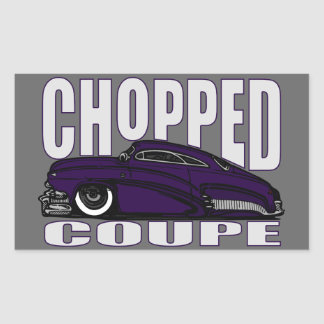 Chopped Coupe Rectangular Sticker