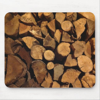 Chopped Fire Wood Mouse Pad
