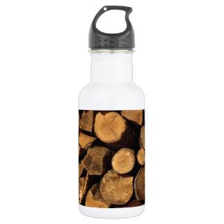 Chopped Fire Wood Water Bottle