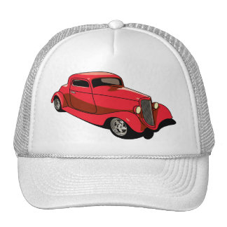Chopped Red Coupe Trucker Hat