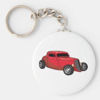 Chopped Red Street Rod Basic Round Button Keychain