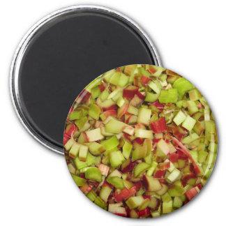 Chopped Rhubarb 2 Inch Round Magnet