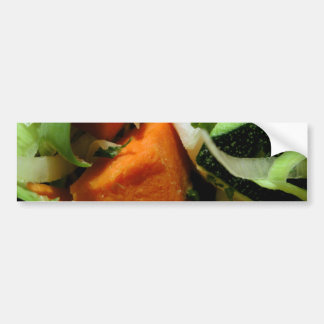 Chopped Salad Car Bumper Sticker