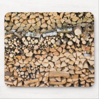 Chopped wood on a pile mousepad