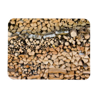 Chopped wood on a pile rectangular magnet
