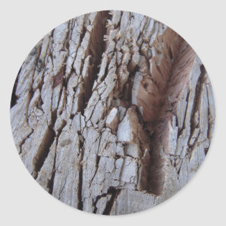Chopped Wood Texture Photography Classic Round Sticker