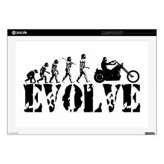 "Chopper Biker Motorcycle Rider Evolution Art Decals For 17"" Laptops"