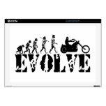 "Chopper Biker Motorcycle Rider Evolution Art 17"" Laptop Decal"
