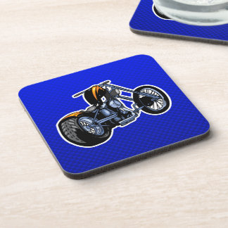Chopper; Blue Drink Coaster