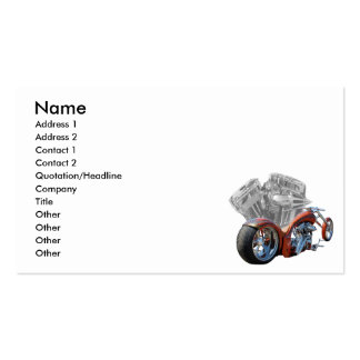 Chopper Double-Sided Standard Business Cards (Pack Of 100)