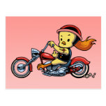 Chopper Chick -notx Postcard