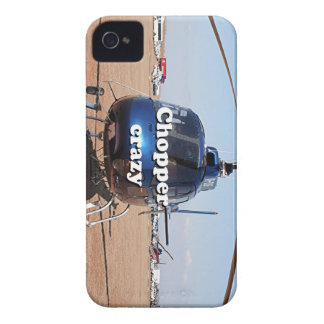 Chopper crazy: blue helicopter Case-Mate iPhone 4 case