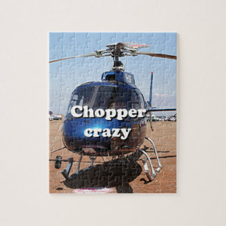 Chopper crazy: blue helicopter jigsaw puzzle