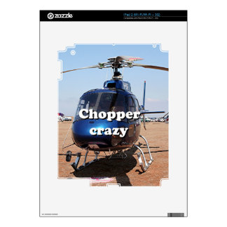 Chopper crazy: blue helicopter skin for the iPad 2