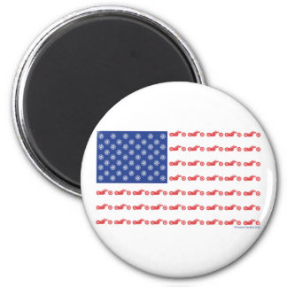 CHOPPER-FLAG-[Converted] 2 Inch Round Magnet