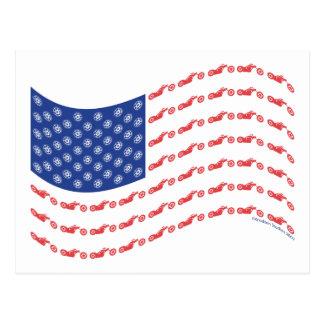Chopper-Flag-Wave Postcard