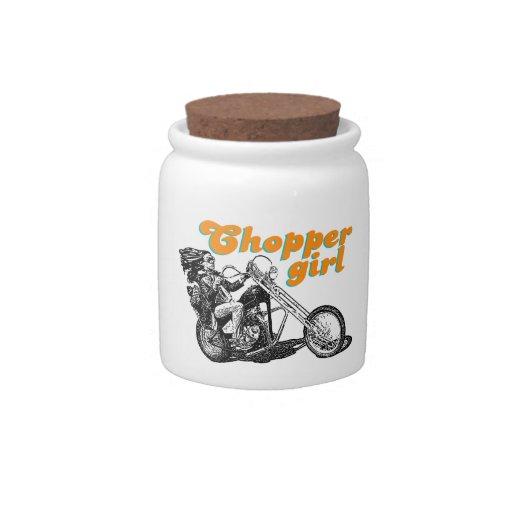 Chopper girl candy jars