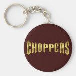 CHOPPER-GOLD KEYCHAINS