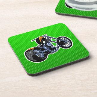 Chopper; Green Beverage Coaster