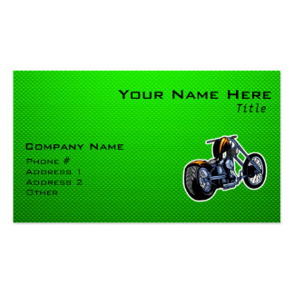 Chopper; Green Double-Sided Standard Business Cards (Pack Of 100)