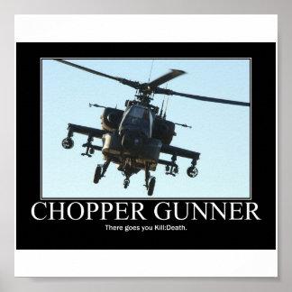 Chopper Gunner Motivational Poster