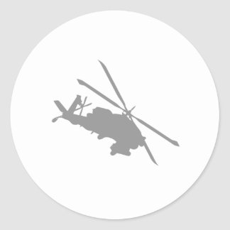 chopper helicopter classic round sticker