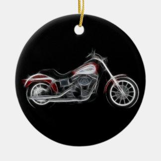 Chopper Hog Heavyweight Motorcycle Ceramic Ornament