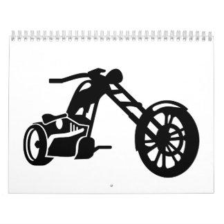 Chopper motorbike wall calendars