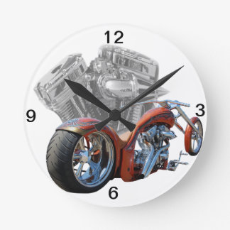 Chopper.motorcycle Round Clock