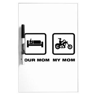 Chopper Rider Dry Erase Whiteboard