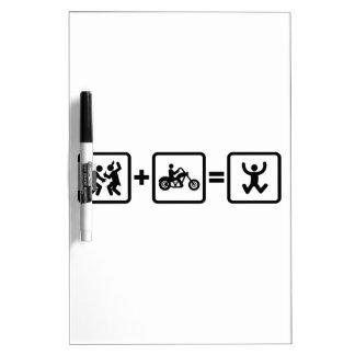 Chopper Rider Dry-Erase Whiteboards