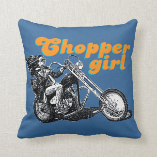 Chopper rider throw pillow