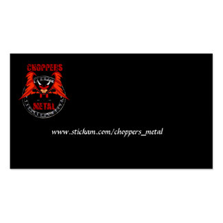 choppers cards pack of standard business cards