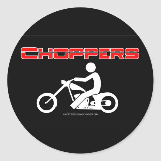 Choppers-color Classic Round Sticker