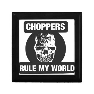 Choppers rule my world trinket boxes