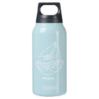 Choppy sailboat small water bottle