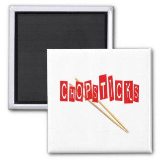 Chopsticks 2 Inch Square Magnet