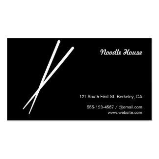 Chopsticks Business Card