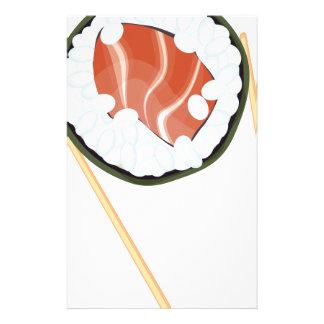 Chopsticks Holding Sushi2 Stationery