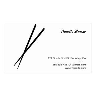 Chopsticks (variation black) business card