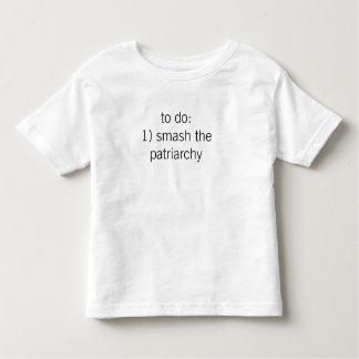 """""""choque camiseta del patriarcado"""" (niño)"""