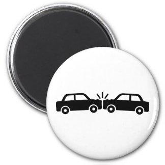 Choque de coche imán redondo 5 cm