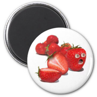 Choque de la fresa imán redondo 5 cm