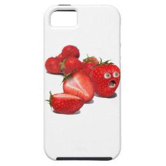 Choque de la fresa iPhone 5 carcasas